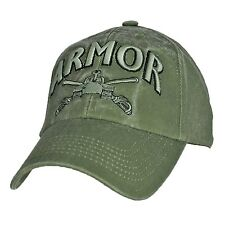US ARMY ARMOR - U.S. Army Tank OD Green Military Baseball Cap Hat