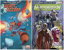GUARDIANS OF THE GALAXY + ROCKET RACCOON FCBD 2014 SET FREE COMIC BOOK DAY MOVIE