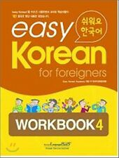 Easy Korean for Foreigners Workbook 4 w/ CD Free Ship