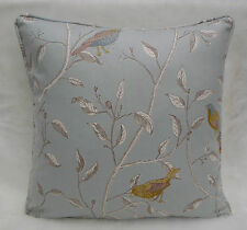 Sanderson Fabric Cushion Cover  'Finches' Duck Egg Blue Colourway - 100% Cotton