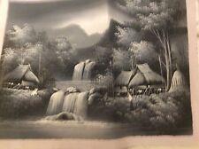 Peinture à l'huile. noir & blanc. indonésie