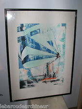 lithographie signée. Lithography signed marine Mornac