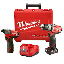 "Milwaukee 2594-22 M12 Fuel 1/2"" Drill/Driver and 1/4""Impact Combo Kit"