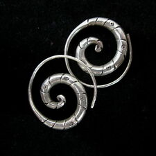 Fashion Silver Earrings Tribal Spirale Schmuck OHRHÄNGER Ohrringe الأقراط  ER127