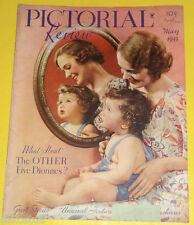 Pictorial Review Magazine May 1935 Mother & Child in a Mirror Cover Illus See!
