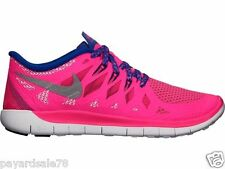 GIRL'S SIZE 7 YOUTH 7Y NIKE FREE 5.0 RUNNING SNEAKERS / SHOES HYPER PINK 644446
