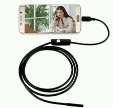 ENDOSCOPIO USB OTG TELECAMERA ISPEZIONE FLESSIBILE  LED 2 METRI ANDROID E PC