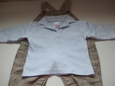 PEQUILINO UNISEX DUNGAREES OUTFIT FOR NEWBORN 3 MONTH BABY - EXCELLENT CONDITION
