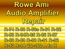 ROWE AMI JUKEBOX AMPLIFIER REPAIR VINYL MODELS R74 TO R94 - CD CD-100A TO H