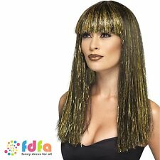 EGYPTIAN GODDESS PRINCESS CLEOPATRA QUEEN WIG - womens ladies fancy dress