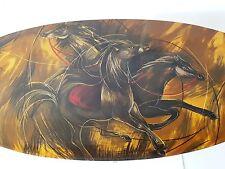 SUPERBE TABLE BASSE AUX CHEVAUX 1960 1970 VINTAGE PLASTIQUE RESINE 60's 70's