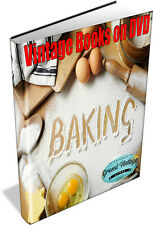 BAKING ~ Vintage Book Collection on DVD - Cooking, Recipes, Bread, Cakes