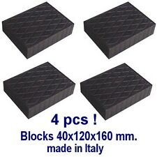 Universal Scissor Lift Pads - H40 - Ramp Rubber Blocks Made in Italy REAL RUBBER