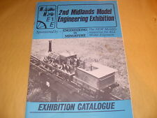 2nd Midlands Model Engineering Exhibition Catalogue Oct/Nov 1979 -As Photo