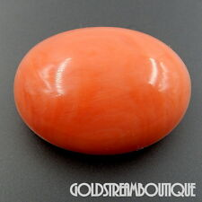 HIGH QUALITY OVAL CABOCHON 42.73 CT TW GENUINE PINK CORAL LOOSE GEMSTONE