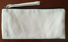 20x Eco Cosmetic cotton Canvas Makeup bag Personalised Travel Pencil Case Pouch