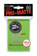 10x PACK Magic,Standard sized PRO-MATTE UltraPro LIME GREEN Card Sleeve 50ct NEW