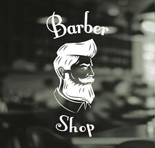 Barber Shop Gentlemens Hair Men Salon Window Vinyl Sign Sticker Lettering Beauty