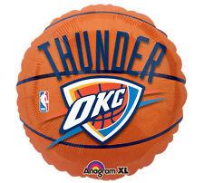 "NBA Oklahoma City Thunder 18"" Foil Balloon Basketball OKC Helium Party 3 Pack"