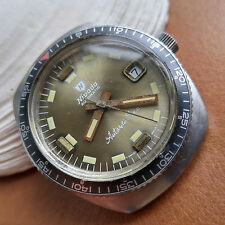 Vintage Nivada Antarctic-Sea Compensamatic Divers Watch w/Warm Patina,ETA 2472