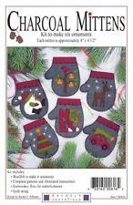 Charcoal Mittens - Six Ornaments - Rachel's of Greenfield Kit