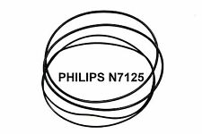 COURROIES SET PHILIPS N7125 MAGNETOPHONE A BANDE EXTRA FORT NEUF FABRIQUE N 7125