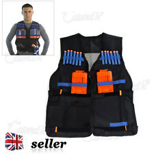 UK Adjustable Tactical Vest with Storage Pockets for Nerf N-Strike Elite Team