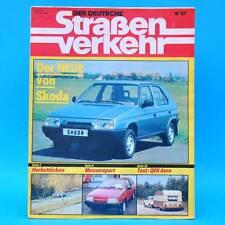 Der Deutsche Straßenverkehr 10/1987 BMW K 100 RS QEK Aero Skoda Favorit HP 500 F