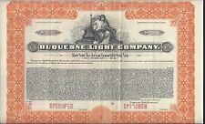 "DUQUESNE LIGHT COMPANY.....""SPECIMEN"" CONVERTIBLE GOLD NOTE"