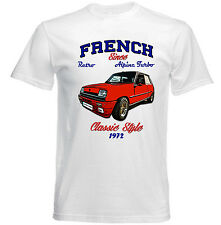 VINTAGE FRENCH CAR RENAULT 5 ALPINE TURBO - NEW COTTON T-SHIRT