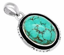 Natural Turquoise Gemstone Pendant Solid 925 Sterling Silver Jewelry IP30108