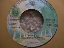 """ALICE COOPER """"YOU AND ME"""" / """"ITS HOT TONIGHT"""" 7"""" 45  MINT-"""