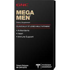 GNC MEGA MEN 90 CAPLETS DIETARY SUPPLEMENT POWERFUL ANTIOXIDANTE MULTI-VITAMIN