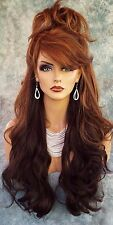 "28"" WAVY HEAT FRIENDLY WIG CLR CHESTNUT GORGEOUS SEXY LONG THICK USA 307"