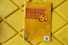 Donkey Kong 64 Nintendo 64 N64 Instruction Manual Booklet ONLY Donkeykong #B1