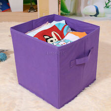 Square Foldable Fabric Toy Storage Boxes With Handles 22 x 22 x 22 cm Small