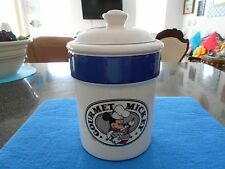 Beautiful Gourmet MICKEY Mouse Cookie Canister, Near MINT/MINT, Treasure Craft