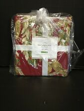 Pottery Barn Vintage Love Budgies Holiday Organic Bed Duvet Cover Full Queen FQ