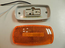 (1) AMBER Camper Trailer RV Light 3 LED 2 x 4 surface mount Clearance marker