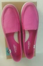 Sperry Top Sider Women's Zuma Washed Slip-on Sneakers (Pink) Size 8 US
