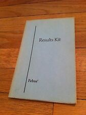Rare '75 Results Kit FEBRE' How to get Rich and Do Anything You Can Imagine Book