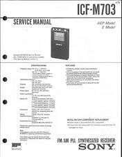 Sony Original Service Manual per ICF-M 703