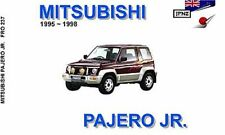 Mitsubishi Pajero Junior 1995-97 Owners Handbook by JPNZ International Ltd