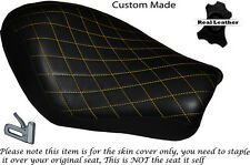 DIAMOND STITCH YELLOW CUSTOM FOR HARLEY SPORTSTER LOW IRON 883 SOLO SEAT COVER
