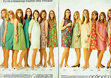 PUBLICITE ADVERTISING 086  1967  Prénatal (2pag) robes de grossesse