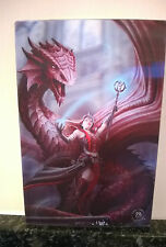 3D POSTCARD Gothic Art Anne Stokes Scarlet Magic 10x15 cm appx New Red Dragon