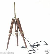 Vintage LED Desk Tripod Lamp Stand Nautical Shade Fixture Home & Office tripod