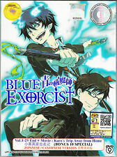 BLUE EXORCIST Complete TV Series Ep.1 - 25 End PLUS OVA And 10 Specials DVD Box