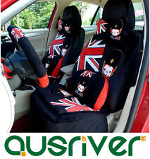 Universal Car Seat Cover Set Black&Red For Subaru XV Liberty TOYOTA Aurion Camry