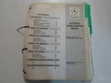 1984 MERCEDES Benz Model 124 201 Electrical Troubleshooting Manual WATER DAMAGED